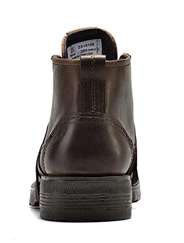Men's Boots Black Chukka Genuine Oxford Insun Leather dxwFRqd0