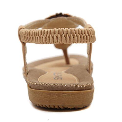 Sandal perles vintage de Sangle dqq String abricot femmes T E0qxqwBH
