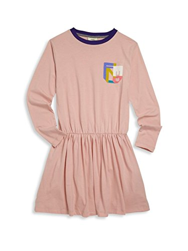 Fendi Big Girl's Logo Fit-&-Flare Jersey Dress Pink 14 by Fendi