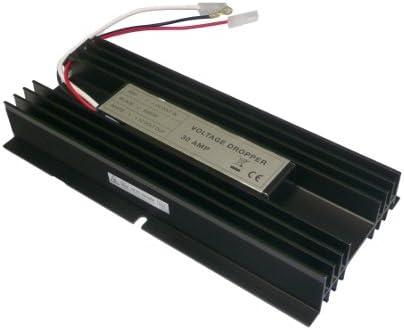 Kindvox Convertidor Transformador de 24v a 12v, 30 Amp MAX.