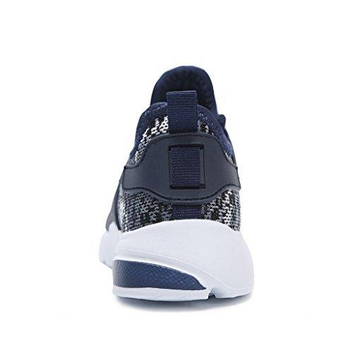 Hawkwell Zapatillas Camuflaje Ligero de Deportes Para Unisex Niños azul marino