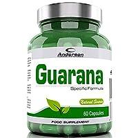 Integratore Anderson Guarana 60 capsule Estratto titolato di Paulinia cupana 2,5% Caffeina ricco di guaranina, Tonico, Stimolante, Dimagrante, Bruciagrassi, Termogenico, Vigore sessuale