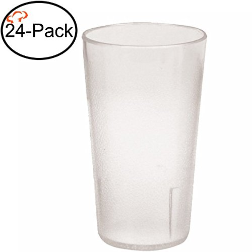 Tiger Chef 24-Ounce, 24-Pack Clear Stackable Restaurant Beverage Cup Plastic Tumbler Set, BPA-Free