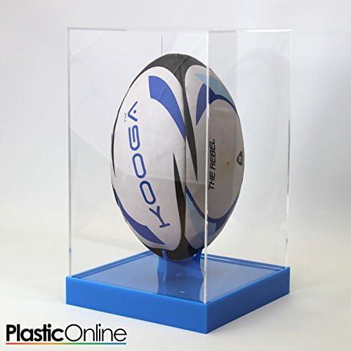 Rugby Ball - Estuche vertical para exhibición de pelotas de rugby, color azul: Amazon.es: Deportes y aire libre