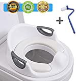: Potty Training Seat for Kids Toddlers Boys Girls Toilet Seat for Baby with Cushion Handle and Backrest Toddlers Toilet Training Seat for Baby Kids Toddlers
