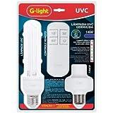 Lâmpada Germicida UVC Timer + Controle 2U 14W Combate Bactérias e Vírus- 220v