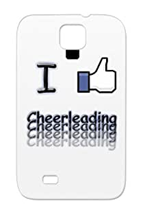 I Like Cheerleading Design Tearproof For Sumsang Galaxy S4 Navy Hockey Sports Facebook Case