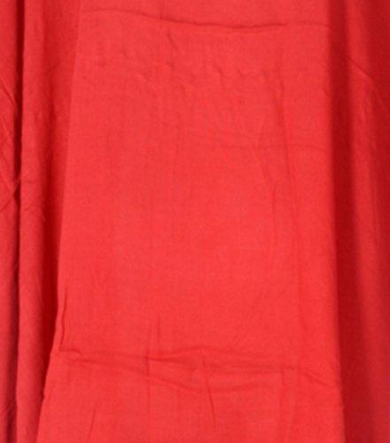 Tropicalsale Women's Red Vermilion Simple Plain Caftan Tunic Top Big Plus Size