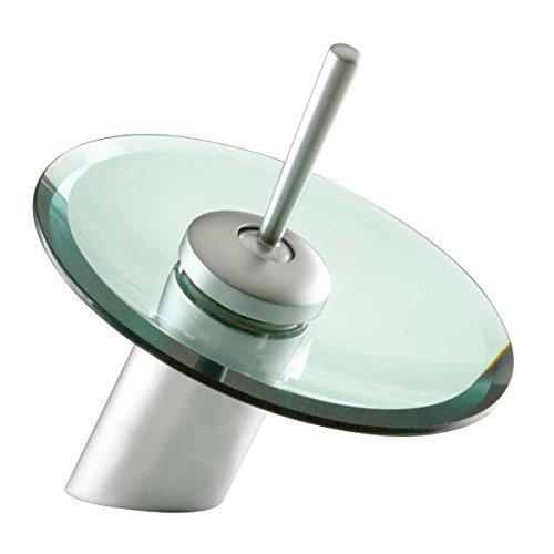 Waterfall Faucet Cast Satin Nickel Brass 7