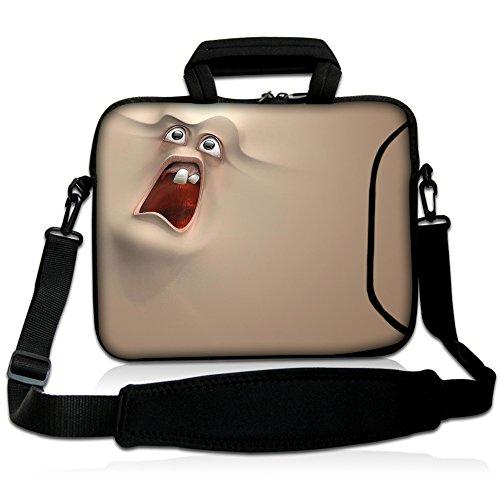 Laptop TASCHE BEUTEL 17 17,3 zoll Fall Neopren mit Griff und Gurt für Notebooks Dell HP Apple Macbook Samsung Apple Toshiba #Sloth#