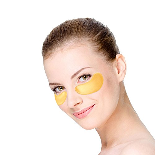 Collagen Eye Mask 24K Gold Reduce Dark Circles and Puffiness Eye Treatment Pads Eye Patches With Anti-aging and Wrinkle Care Properties, Best Gifts for Women & Men (16 Pairs)
