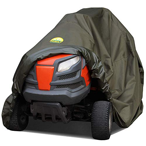 Family Accessories Waterproof Riding Lawn Mower Cover, Heavy Duty, Durable, UV and Water Resistant Cover for Your Ride-On Garden Tractor - L76 xW47 ()