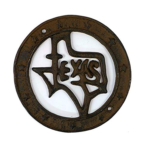 IRIS USA, Inc. State of Texas Cast Iron Wall Plaque