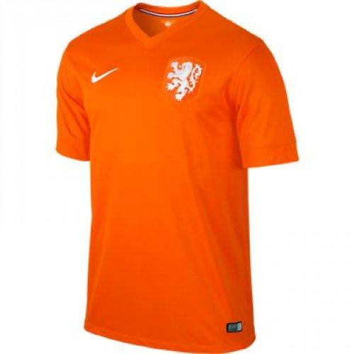 NIKE Netherlands 2014 Stadium Men's Soccer Shirt, Orange, S