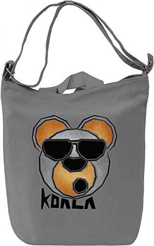 Cool Koala Logo Borsa Giornaliera Canvas Canvas Day Bag| 100% Premium Cotton Canvas| DTG Printing|
