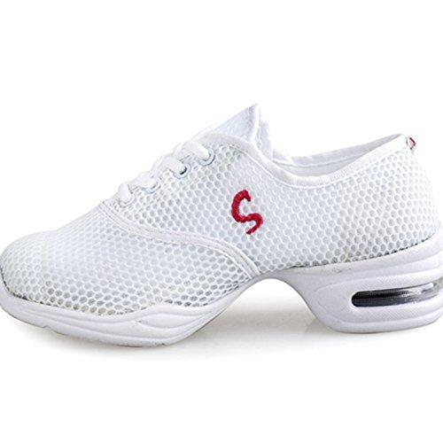 Dance Lace Trainer White Ladies Shoes Sneaker up VECJUNIA qXBAfTwW