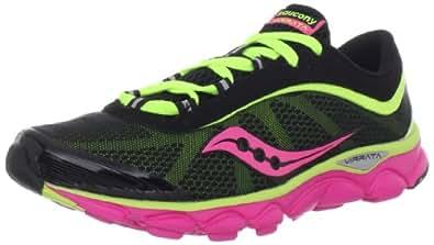 Saucony Women's Virrata Running Shoe,Black/Citron/Pink,6 M US