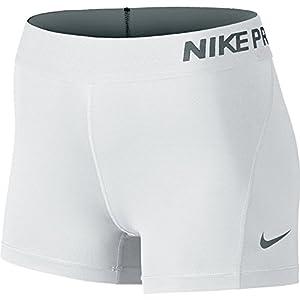 Nike Women's Pro Cool 3-Inch Training Shorts (White/Medium)