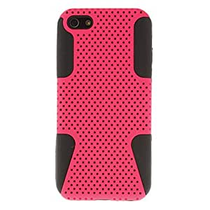Mini - 2-in-1 Design Network Pattern Hard Case for iPhone 5C , Color: Orange