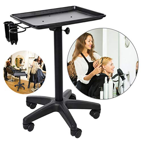 Salon Instrument Aluminium Tray Trolley, Adjustable Height Rolling Mobile Beauty Hair Service Tool Storage Utility Carts (Hole Style) – Really Products, Not A Pile of Garbage