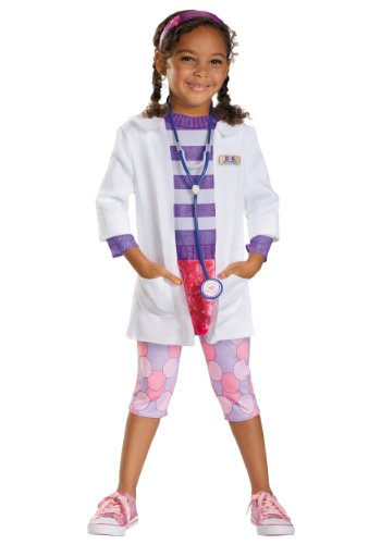 Disguise 218177 Deluxe Doc Mcstuffins Toddler-child Costume Medium - 3t-4t