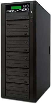 Standalone Video /& Audio Back-Up Duplication System Spartan Edge 1 to 1 Target Single DVD//CD Disc Copy Tower Duplicator with 24x Writer Burner D01-SSP