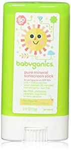 Babyganics Pure Mineral Sunscreen Stick - SPF 50+ - Fragrance Free - 0.47 oz