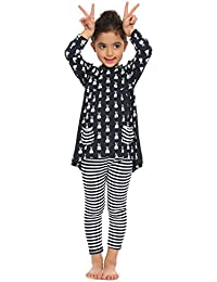 Little Girls Clothing Sets Bunny Printed Long Sleeve Outfits 2 PCS Top Leggings