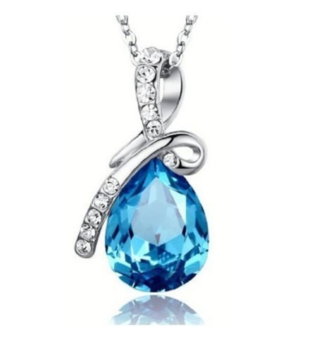 Tirio-Swarovski-Blue-Eternal-Love-Austria-Crystal-Water-drop-Pendant-Come-with-a-Chain-Necklace-16