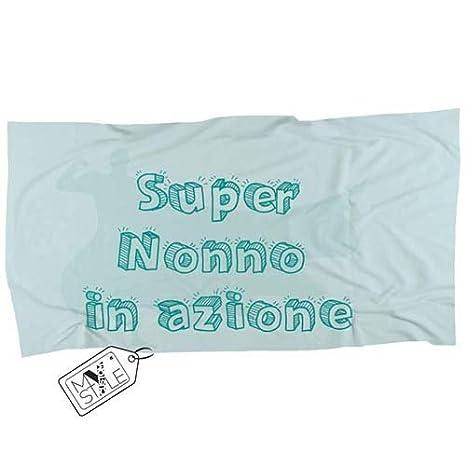 My Custom Style® Toalla/toalla playa colección Nonni _ 1, de microfibra aterciopelada