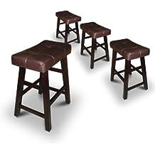 """4 24"""" Saddle Back Espresso Bar Stools"""