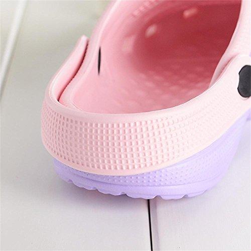 Kemosen Herren Sommer Hohl Gartenschuhe Paar Ultra-Light Sandalen Strand Casual Hausschuhe in 10 Farben Erhältlich Damen Violett