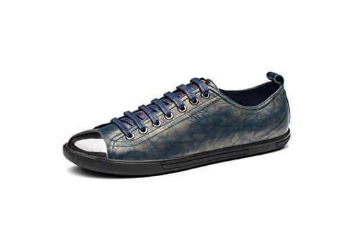 OPP Hombres Flats Zapatos de Piel Verde