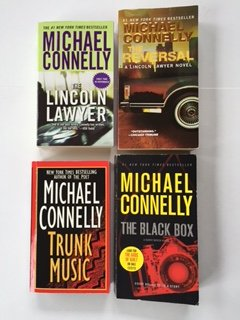 Michael Connelly (4 Book Set) The Lincoln Lawyer -- The Reversal -- Trunk Music -- The Black Box.