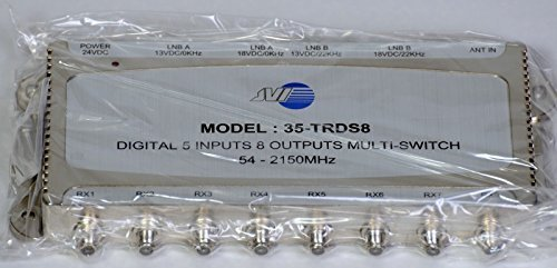 JVI 35-TRDS8 5x8 Powered Multi-switch with Power ()