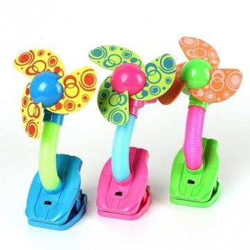 Bheema Mini seguridad clip-on Ventilador para cochecitos de bebé cochecitos gimnasios 3colores–azul MHDS SKUBM2494216 - Blue