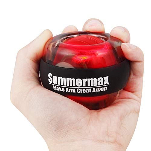 Summermax Wrist Power Gyroscopic Ball,Wrist Strengthener and Forearm Exerciser for Stronger Arm Fingers Wrist Bones and Muscle -