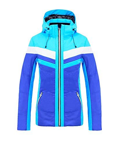 CAFUTY 女性の防水透湿性スノーボードスキージャケット ブルー Large
