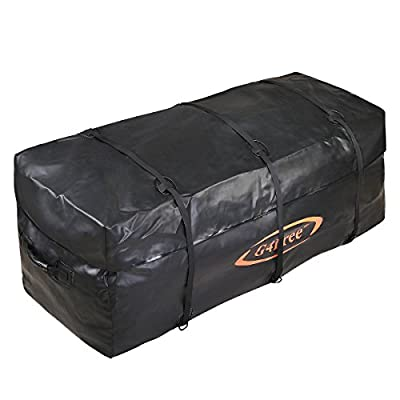 G4Free Cargo Bag Hitch Rack Cargo Carrier Bag, Waterproof, Black, 13/19 cubic Feet
