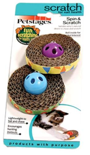 - Petstages 701 Spin and Scratch Cat Catnip Toss and Bat Toy