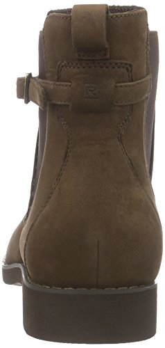Rockport Alanda Chelsea, Women's Unlined Chelsea Boots Short Length Brown (Ebano Nubuck)