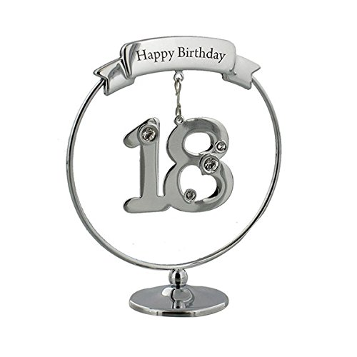 Crystocraft 18th Birthday Shiny Cake Topper Gift Ring With Swarovski -