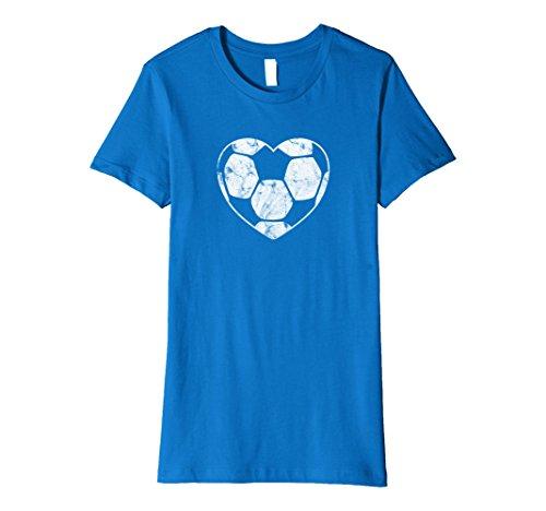 Mom Ball Soccer (Womens Soccer Ball Heart Mom Fan Parent Fashion T-Shirt Large Royal Blue)