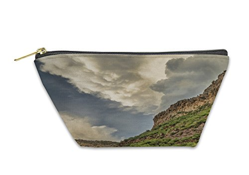 Gear New Accessory Zipper Pouch, Dramatic Clouds Over Sandstone Cliffs Near Fort Collins Colorado, Large, - Stores In Fort Collins