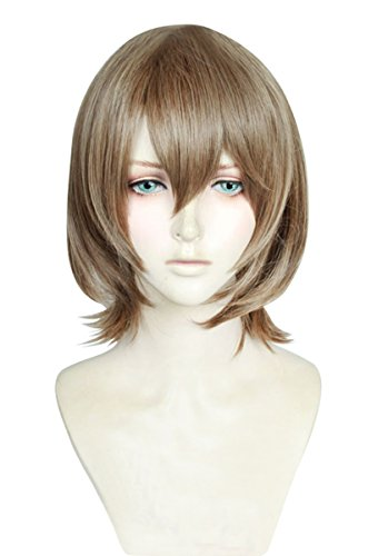 Cfalaicos Short Flaxen Cosplay Wig with Free Wig Cap ()