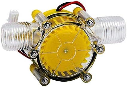Fltaheroo 10W Bomba De Flujo De Agua Hidro Generador Turbina De Flujo Hidráulico Conversión 12V
