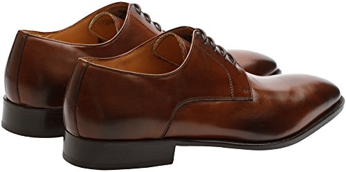 Mens Calfskin Leather Handcrafted Formal Lifestyle Modern Lace Lined Classic Shoes Dress 3DM Oxford Embossed Genuine Up Brown Crocodile Leather gw54tv