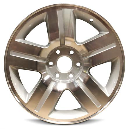 Road Ready Car Wheel For 2007-2011 Chevrolet Silverado 1500 Suburban 1500 Avalanche 1500 Tahoe 20 Inch 6 Lug Silver Machine Face Aluminum Rim Fits R20 Tire - Exact OEM Replacement - Full-Size Spare