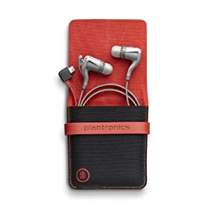 Plantronics BackBeat Go 2 Wireless Hi-Fi Earbud Headphones with Charging Case - Compatible with iPhone and other Smart Devices - White