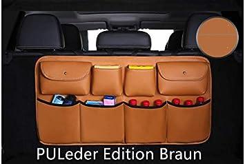 Schwarz KaBurger/® Auto Aufbewahrungstasche kofferraumtasche PU Leder Edition Autotasche Kofferraum Organizer Verpackung f/ür alle Arten von Limousine Heckklappe//SUV//MVP